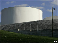 A fuel storage tank in the US