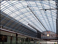 Restored roof at St Pancras
