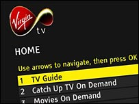 Clip from on demand Virgin TV service