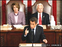 President Sarkozy addresses US Congress