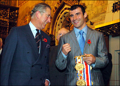 Prince Charles shared a joke with Joe Calzaghe during their meeting