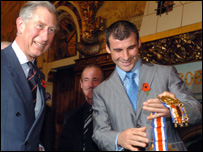 Prince Charles meets Joe Calzghe, world supermiddleweight champion