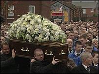 Dean Clarke's funeral