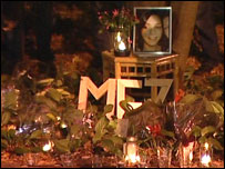 Vigil for Meredith Kercher
