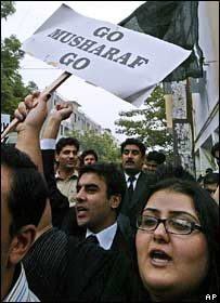 Anti-Musharraf protest in Islamabad, 7 November 2007