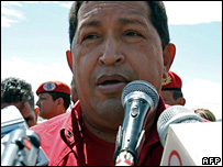 File photograph of Hugo Chavez