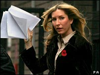 Heather Mills leaving the GMTV studio