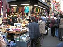 Pensioners shopping in Sugamo, Tokyo