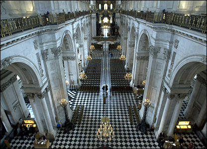 View down the Nave at St Paul's