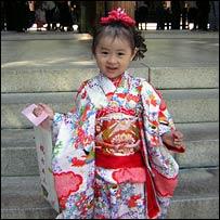 A young girl visits Tokyo's Meiji Shrine
