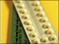 A pack of combined oral contraceptives