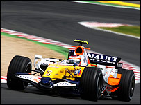 A Renault Formula One car