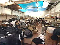 The industrial unit where the clothes were found