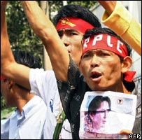 Pro-Suu Kyi protests in Bangkok