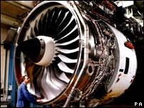 Rolls Royce Trent jet engine, PA