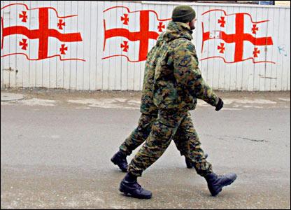 Патруль на улицах Тбилиси