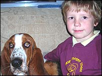 Parsnip with his owner Bailey