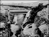 British soldier on the Somme