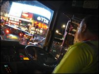Truck cab interior