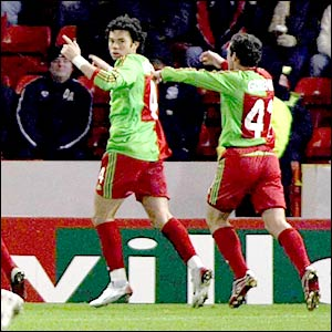 Lokomotiv Moscow celebrate their equaliser from Branislav Ivanovic