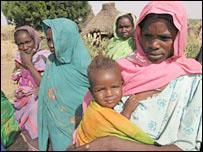 Parents of missing children in the village of Seckata
