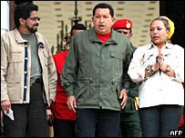 Iván Márquez, Hugo Chávez y Piedad Córdoba