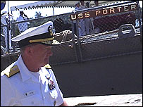 Commander of the Combined Task Force, Rear Admiral Jim Hart
