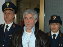 Salvatore Lo Piccolo at Palermo's central police station, 5 Nov 2007