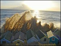 Large waves at Southwold (Pic: Rachel Temple)