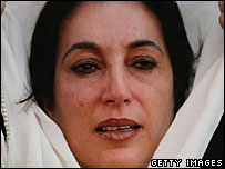 Pakistan opposition leader Benazir Bhutto (Photo: Daniel Berehulak/Getty Images)