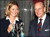 Charlotte Edwards and the Duke of Edinburgh