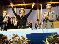 Thatcher at the 1983 party conference