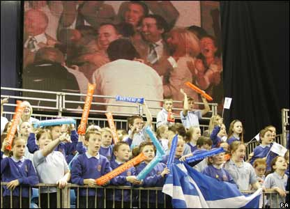The Commonwealth Games decision was watched by hundreds of schoolchildren in Glasgow's Kelvin Hall