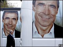 Poster of Danish PM Anders Fogh Rasmussen