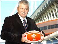 New Wales coach Warren Gatland at the Millennium Stadium