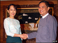 Aung San Suu Kyi and Aung Kyi
