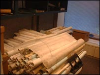 Rolls of blueprints from Iraq in the Unmovic office in New York