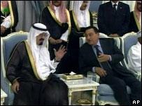 مبارك وعبد الله (صورة من الأرشيف)