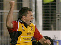 Gareth Wyatt's try gave the Dragons an early lead at Perpignan