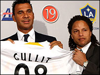 Ruud Gullit and Cobi Jones