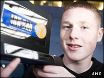 James McCarthy with his Irn Bru award
