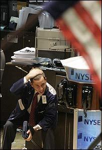 Un corredor se toma la cabeza en la Bolsa de Nueva York