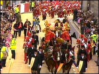 The Lord Mayor's state coach passing through central London
