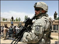 US soldier within Isaf - archive image