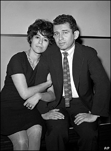 Mailer with his wife Adele in 1960