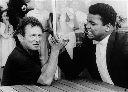 Norman Mailer with Muhammad Ali in 1965