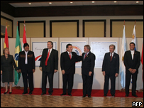 Algunos de los l�deres presentes en la cumbre