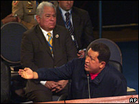 Mr Chavez at the summit, 10 November 2007