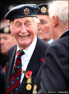 Veterans laughing prior to the Remembrance day ceremony.