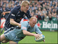 Martyn Williams claimed two of Cardiff Blues' four tries against Bristol
